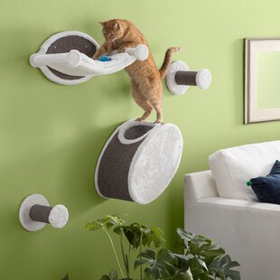 Gabby 4 Piece Wall Mounted Cat Lounging Set