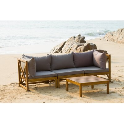Sanibel 4 Piece Sectional Set with Cushions   AllModern