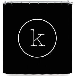 Brand-new Monogram Shower Curtain | Wayfair XW69