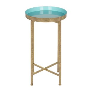 Merveilleux Small Round Metal Accent Table | Wayfair