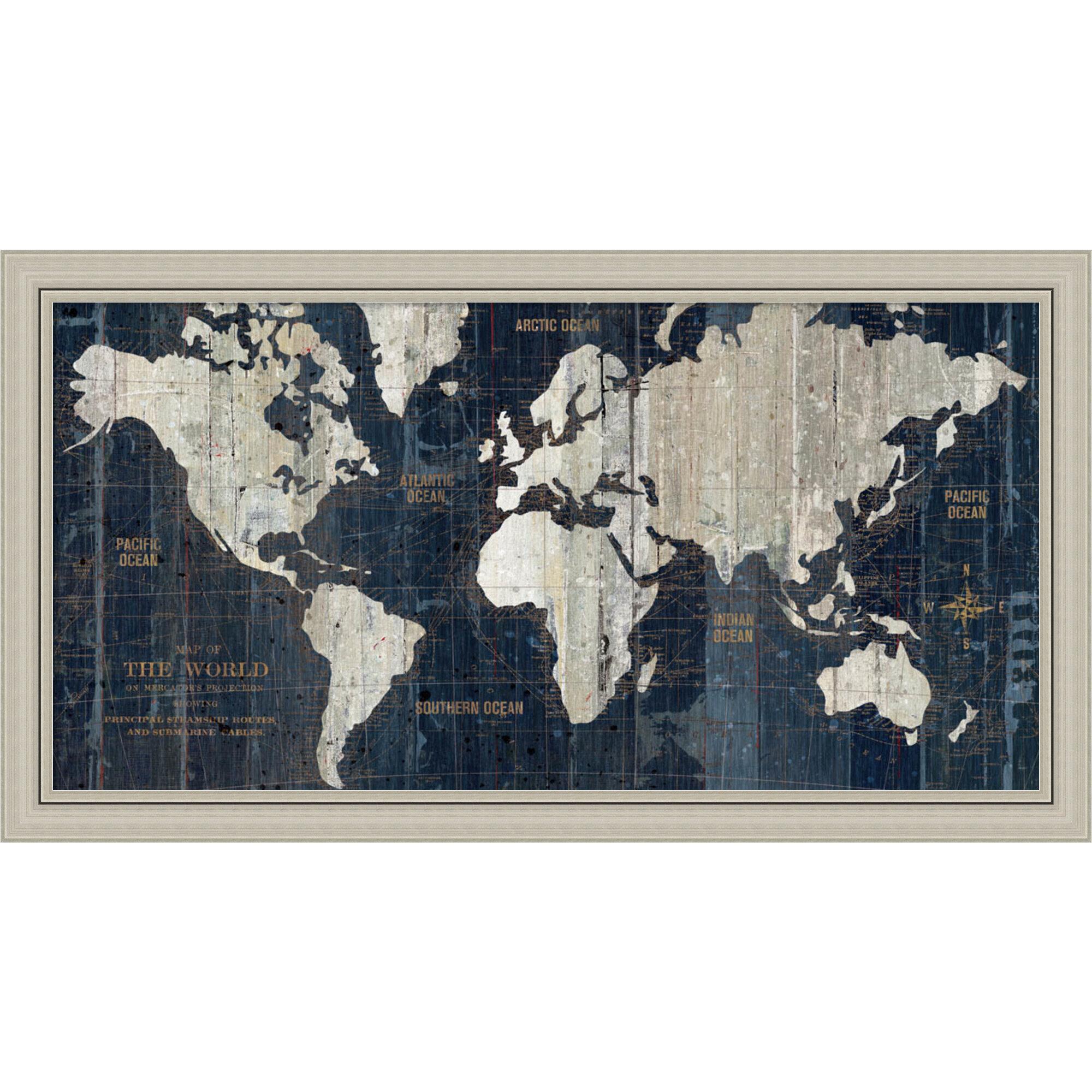 Trent Austin Design Old World Map Framed Graphic Art Reviews
