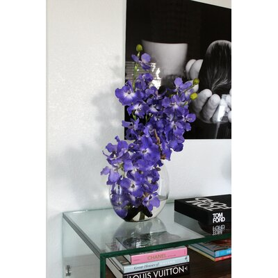 Rosecliff Heights Driftwood And Vanda Orhcis Floral Arrangement In