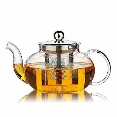 Trogdon Filtering Glass Teapot Winston Porter Capacity: 0.8 qt.