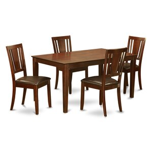 Capri 5 Piece Dining Set by Wooden Import..