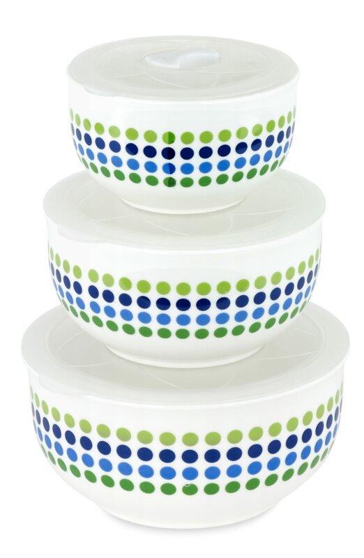 Ceramic 3 Container Food Storage Set