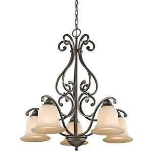 Haffenreffer 5-Light Shaded Chandelier
