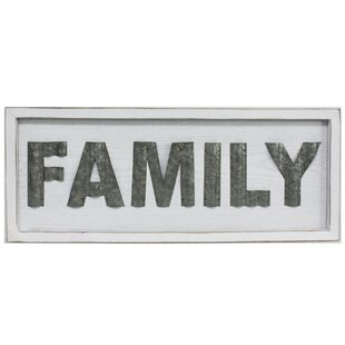 Family Rustic Sign Wall Décor