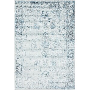 Brandt Light Blue/Ivory Area Rug