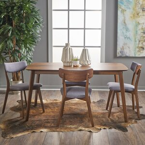Upholstered Chairs Dining Room aaron upholstered chair pottery barn Henry 5 Piece Wood Dining Set