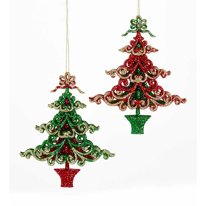Christmas Tree Shaped Ornament Set - Wind & Weather Christmas Tree Shaped Ornament Set Wayfair