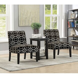 Boronda Transitional 3 Piece Dining Table Set
