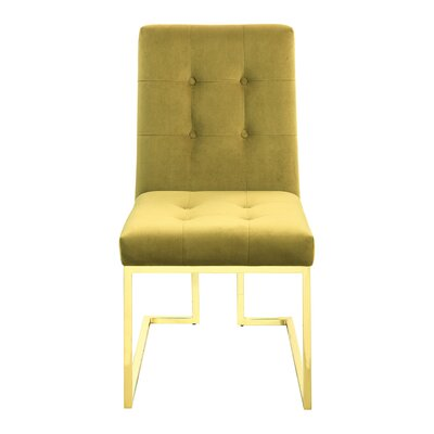 Mercer41 Tenny Upholstered Dining Chair Upholstery Color: Mustard