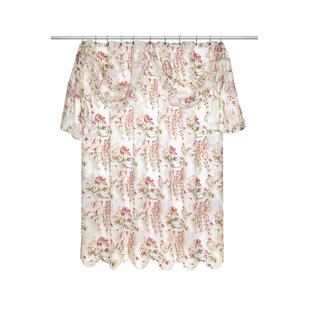 Secret Garden Shower Curtain With Valance