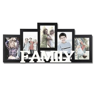 5 Opening Wooden Photo Collage Wall Hanging Picture Frame