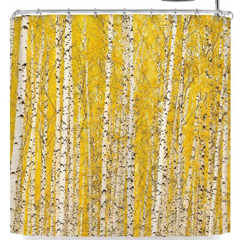 Susan Sanders Birch Trees Shower Curtain