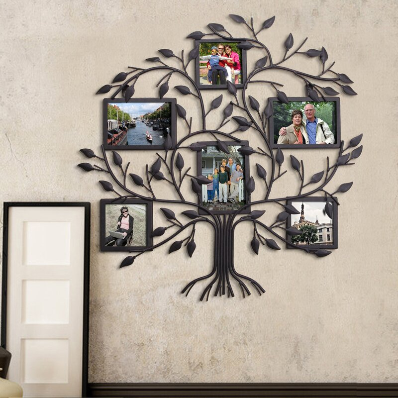 Red Barrel Studio 6 Opening Decorative Family Tree Wall Hanging