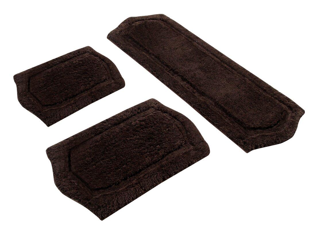 symple stuff 3 piece memory foam bath rug set & reviews   wayfair