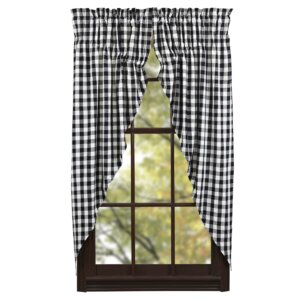 Alette Plaid & Check Semi-Sheer Curtain Panels (Set of 2)