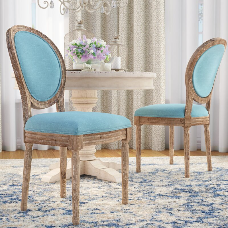 One Allium Way Patel Round Back Upholstered Dining Chair Reviews