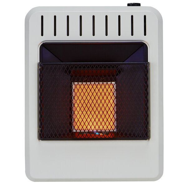 avenger dual fuel ventless infrared btu natural gas propane wall mounted heater with automatic thermostat wayfair - Propane Space Heater