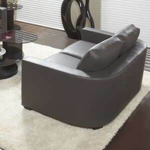 Marquis Top Grain Leather Loveseat by Lind Furniture