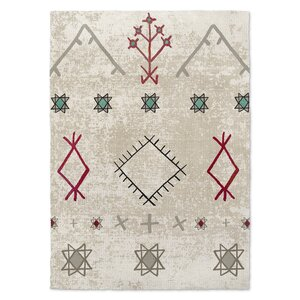 Nasse Beige/Red Area Rug