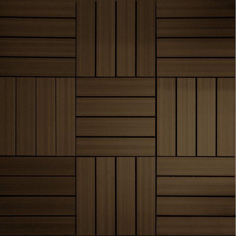 "12 Inspirations For Home Improvement With Spanish Home: NewTechWood UltraShield Spanish Walnut Wood 12"" X 12"