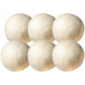 Wool Non-Toxic Reusable Dryer Balls (Set of 6)