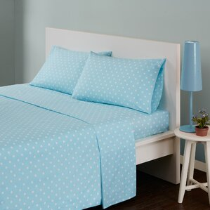 polka dot 180 thread count cotton sheet set