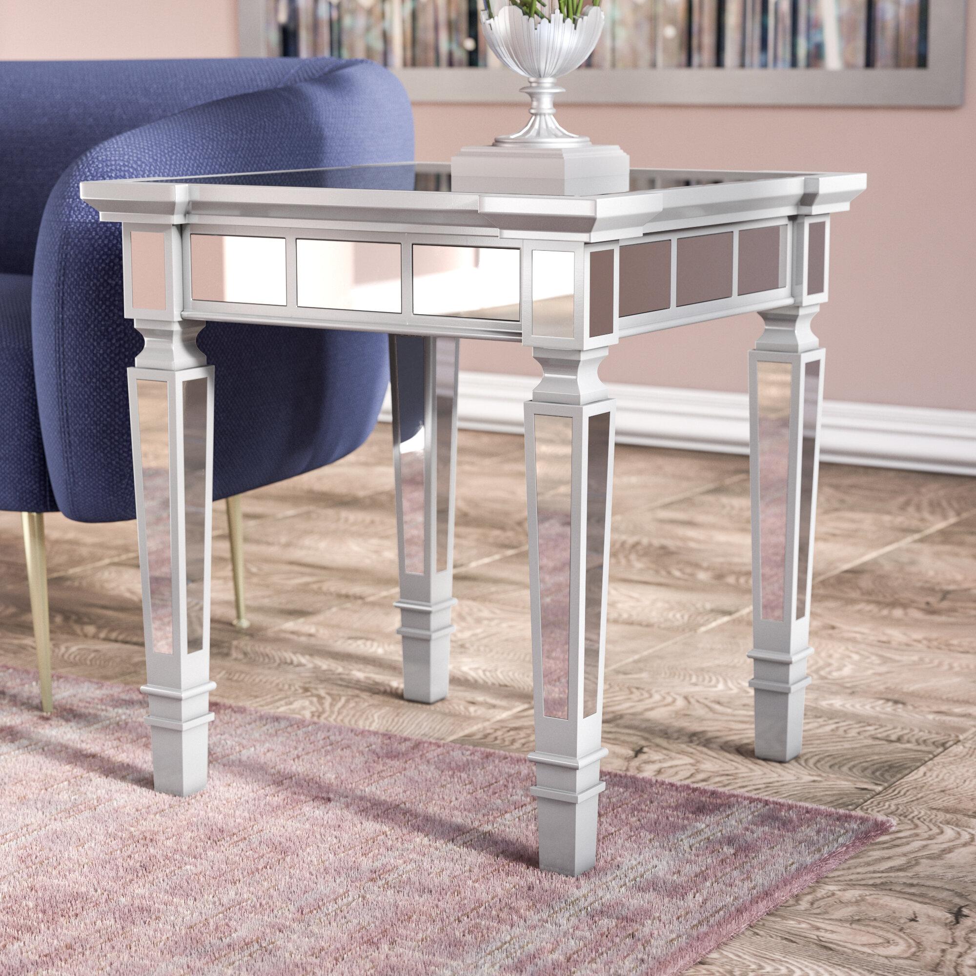 Willa Arlo Interiors Jerlene Glam Mirrored Square End Table