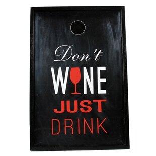 Wine Sayings Just Drink Shadowbox Cork Keeper