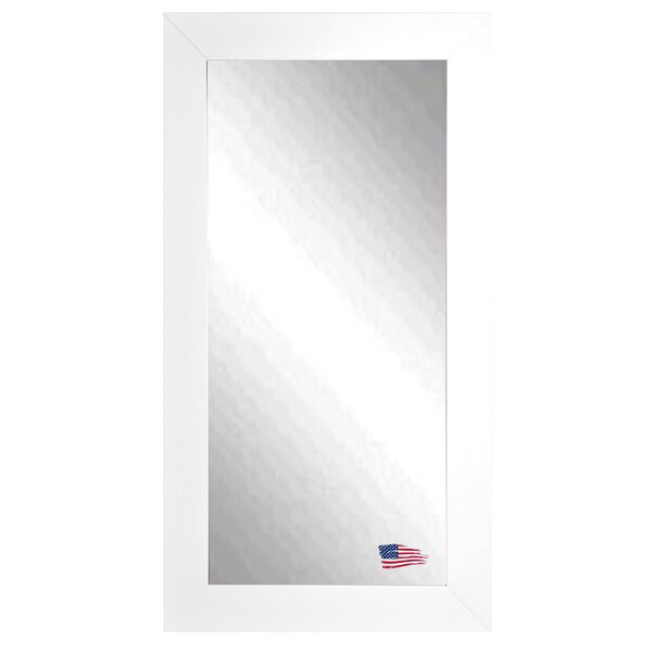 Tall Wall Mirrors latitude run rectangle satin white wide tall wall mirror & reviews