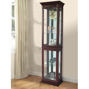 Delightful Watkin Floor Standing Lighted Curio Cabinet