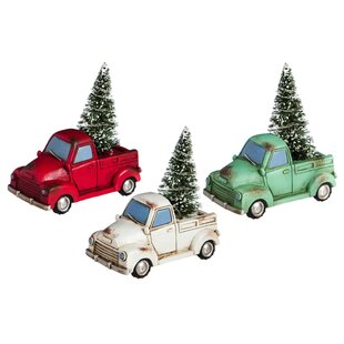 8ff9e7c7c280 Holiday Truck with Tree Light up Miniature Decor (Set of 3). By The Holiday  Aisle