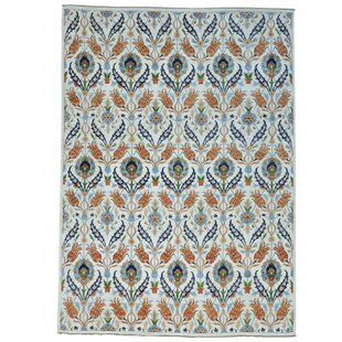 Shop For One-of-a-Kind Schrader Peshawar Hand-Knotted Brown/White Area Rug By Bungalow Rose