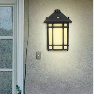Half Moon Security Wall Pack Light Dusk to Dawn Photocell Integrated LED 6 in