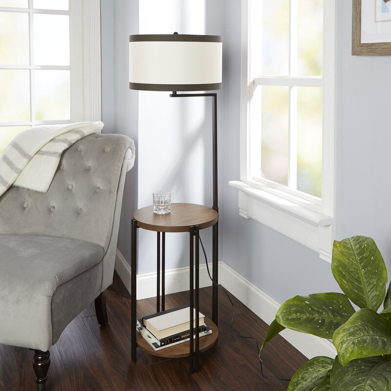 Latitude Run Hofmann Side Table 56 Quot Floor Lamp With Usb