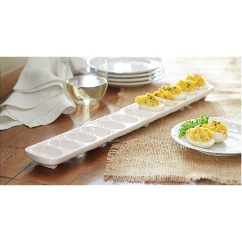 mud pie circa 2 deviled egg tray set reviews wayfair