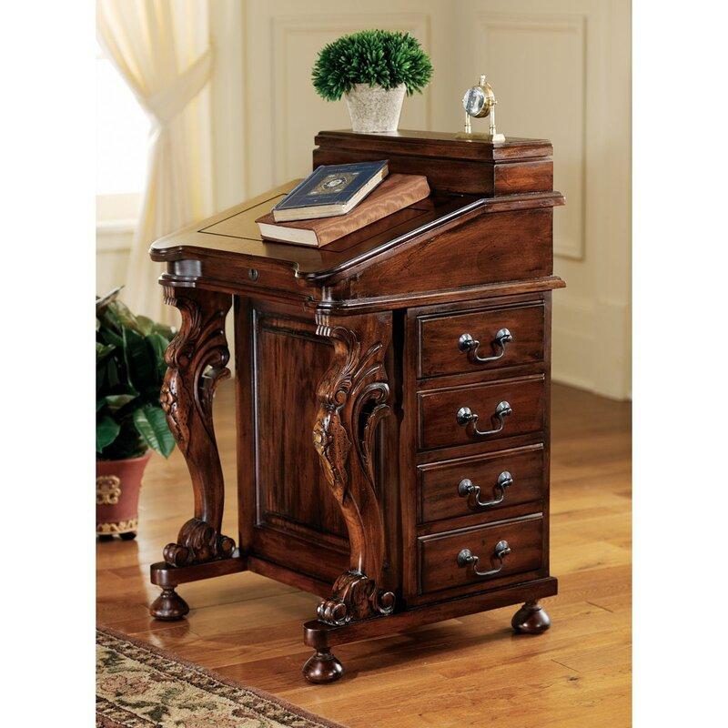 The Captain S Davenport Secretary Roll Top Desk