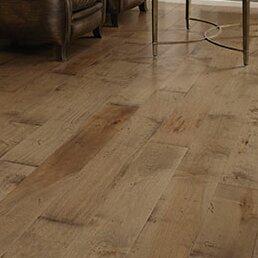 Wide Plank 6 Engineered Maple Hardwood Flooring In Mist