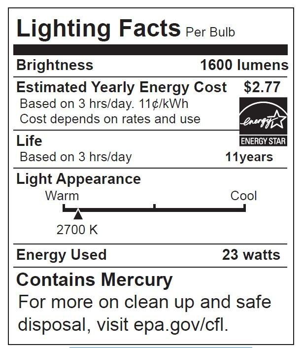 Energetic Lighting E26medium Compact Fluorescent Light Bulb Wayfair