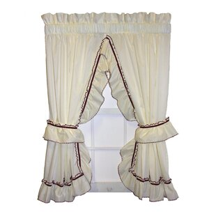 Ruffled Tie Back Curtains
