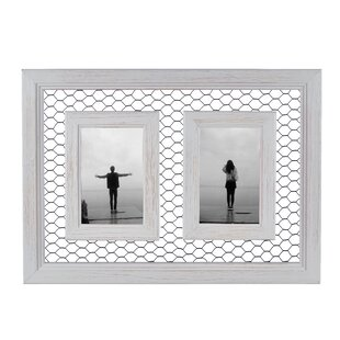 10b725513032 Bihari Double Chicken Wire Wood Picture Frame