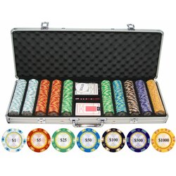 500 piece casino aces poker chip set celebrity sing riverwind casino franklin
