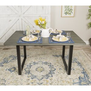 Shander Wood Dining Table by Gracie Oaks