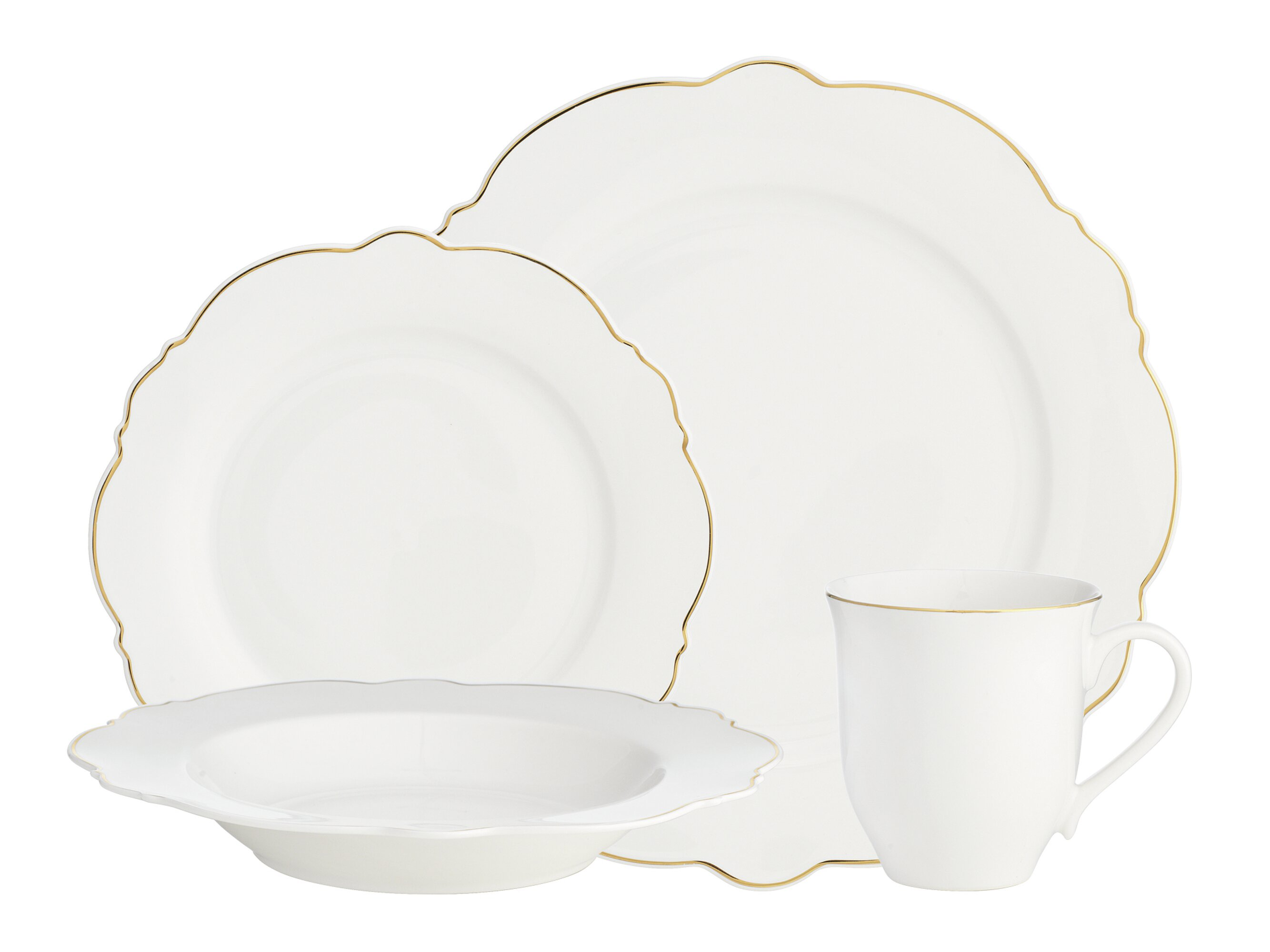 Amusing Oneida Naturally White 16 Pc Dinnerware Set Contemporary ...