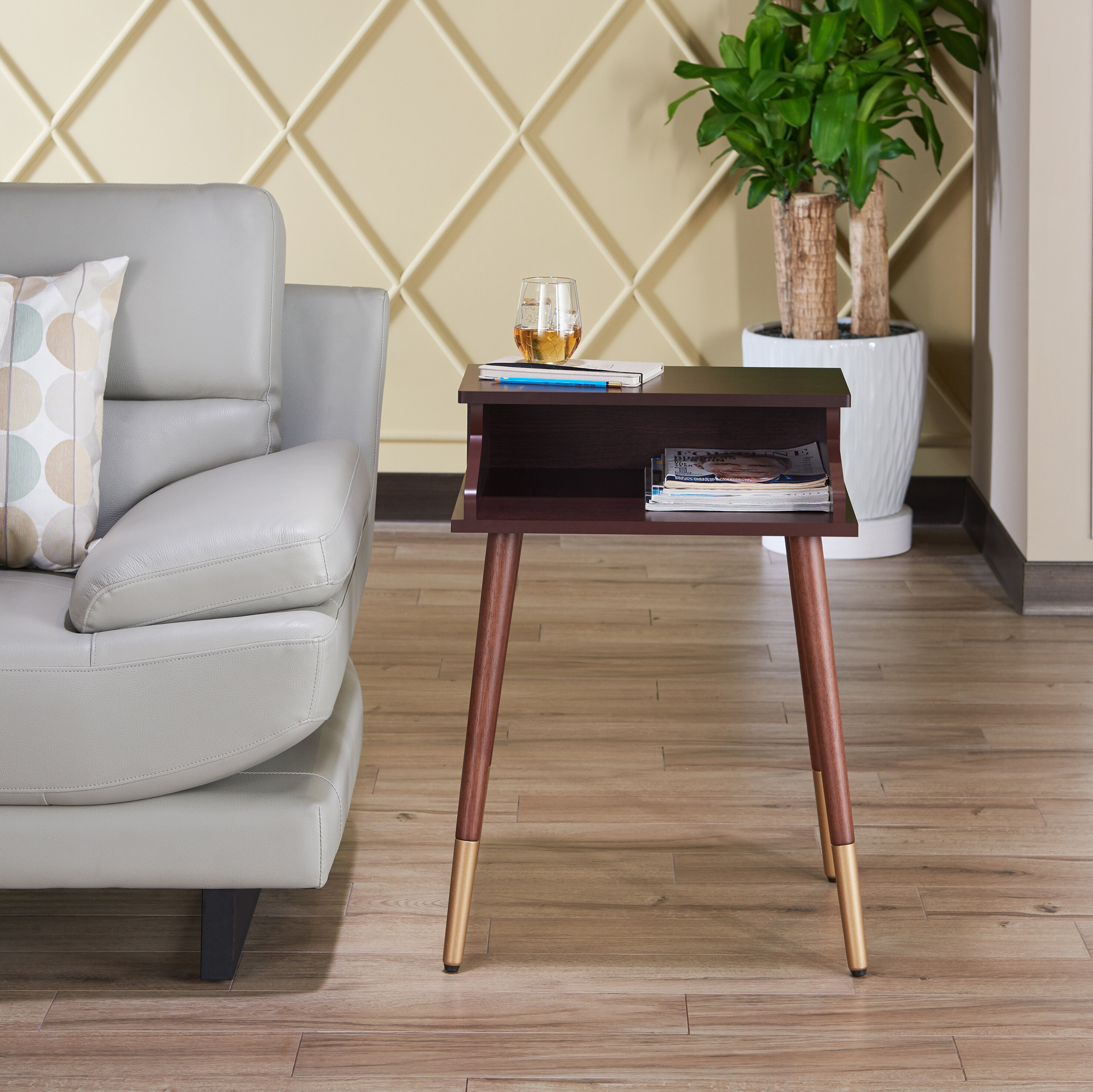 Ivy Bronx Kennison Mid Century Modern End Table Reviews Wayfair