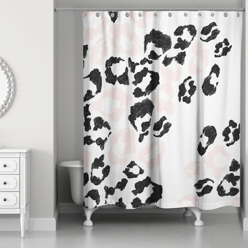 Rosdorf Park Christiana Leopard Print Shower Curtain Wayfair