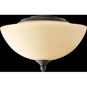 Salon 2-Light Bowl Ceiling Fan Light Kit