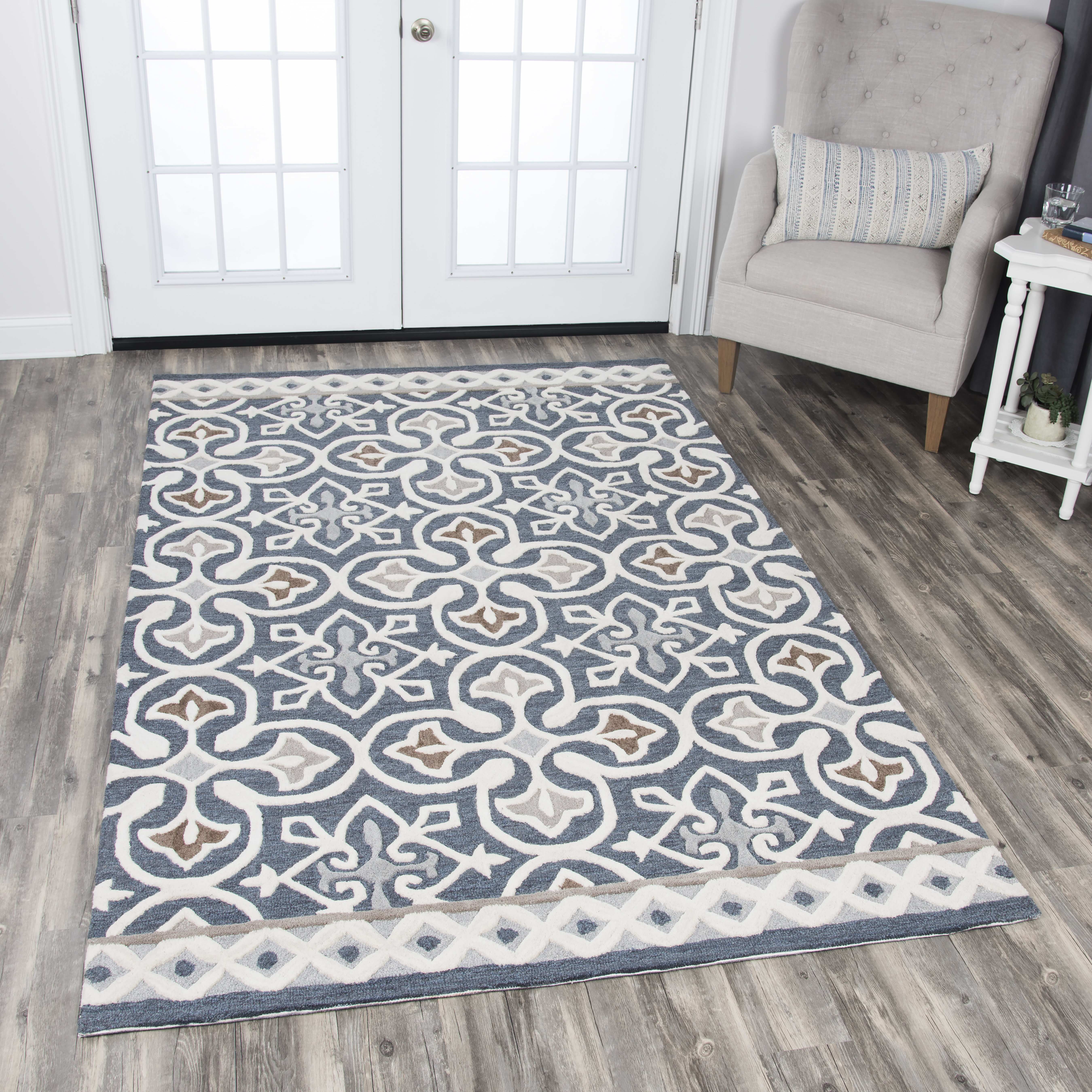 Nordmeyer Hand Tufted Blue Gray Area Rug Reviews Birch Lane